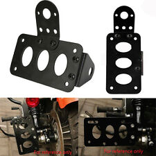 Black Mount Motorcycle License Plate Bracket 4 Harley Chopper Brake Tail Light
