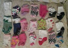 Baby Girl Toddler Socks 21 pair sets Huge Lot bulk Assorted Various