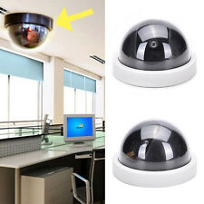 Cabinet Indoor Plastic Dome Dummy Fakes*Security CCTV Camera blinking LED WHITE