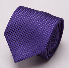 "New $255 TOM FORD Slim 3"" Silk Tie Violet Purple Subtle Woven Pattern"