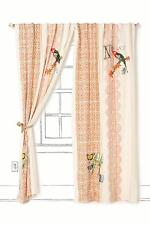 New Rare Anthropologie New Colony Curtain 50 x 96 Birds Butterflies