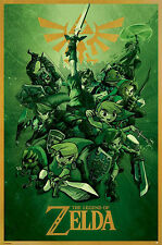 THE LEGEND OF ZELDA - LINK GREEN POSTER (91x61cm)  NEW WALL ART
