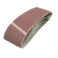 QTY 5 - 75mm x 533mm Sanding Belts 80 Grit - For Belt Sander