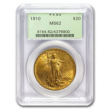 1910 $20 St. Gaudens Gold Double Eagle Coin - MS-62 PCGS - SKU #21608