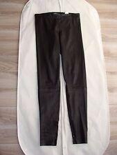 VINCE WOMEN'S LEATHER BLACK SKINNY STRETCHY PANTS XS V156420578