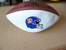 Denver Broncos 3 white panel full size commemorative football NFL