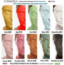 CASMARA mask FULL COLLECTION pack - VARIETY of 10 luxury peel off facial masks