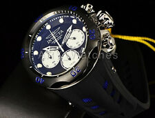 Invicta 50mm Venom Cobra Raven Swiss Chronograph Blue/Black Silicone Strap Watch