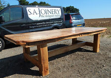 HUGE Dining table rustic reclaimed chunky solid English Oak furniture 16 seater