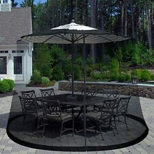 Pure Garden Outdoor Black Umbrella Screen Bug Protector 7.5 Feet