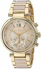Michael Kors Women's MK6360 'Sawyer' Dual Time Crystal steel and Acetate Watch