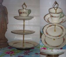 3 TIER PASTRY CAKE PLATE STAND DISPLAY CREAMPETAL GRINDLEY LENOLAND