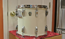 "CHICAGO ERA 1980s LUDWIG 13"" CLASSIC TOM in WHITE CORTEX for DRUM SET LOT #G753"