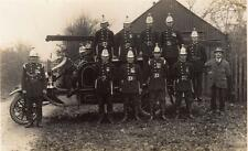 Fire Fighting Fire Engine  Fireman unused RP PC Crookham 1925