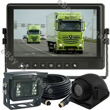 """9"""" LCD MONITOR BACKUP REAR SIDE VIEW REVERSE CAMERA SYSTEM FOR AG, TRUCK, RV"""