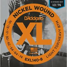 D'Addario EXL140-8 Light Top/Heavy Bottom 8-String Electric Guitar Strings 10-74