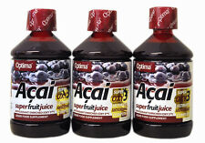 3 Bottles Optima Aloe Pura Acai Super Fruit Juice 500 ml Antioxidant drinks