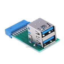 Motherboard 19Pin Header to 2 Ports USB 3.0 Type A Female Port HUB Adapter