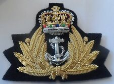 Royal Navy Officers Cap Badge, RN, Hat, Rank Badge, Army, Regiment, Military