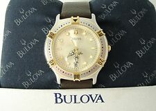 Bulova Marine Star 90B50 Stainless Steel c2004, Running Quartz, Display Box