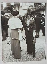 ANCIENNE PHOTOGRAPHIE - PRESSE MONDAINE - MONDIAL PHOTO - CHAMP DE COURSE 1913 *