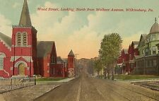 Wood Street Looking North From Wallace Avenue in Wilkinsburg PA Postcard