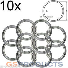10x 4mm x 40mm Stainless Steel Round Ring FREE Postage & Packaging!