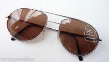 Eschenbach coole Pilotenbrille silber Metall dunkle Sonnenbrille getönt GR. L