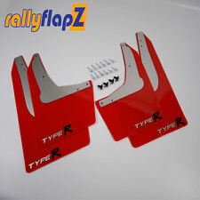Rallyflapz 4mm PVC Mudflaps Honda Civic Type R (EP3) Red + Type R Logo