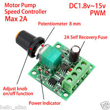 DC 3V 5V 6V 12V 2A PWM Motor Mini Speed Regulator Controller Adjustable Switch