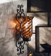 Design Guild Mosaic Glass and Metal Wall Sconce