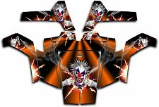 Polaris RZR 800 UTV Wrap Graphics Decal Kit 2007 2010 Pyro The Clown Orange
