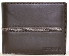 Men's Nixon Coastal Brown Leather Wallet + Removable ID Holder. RRP $59.99. NWOT
