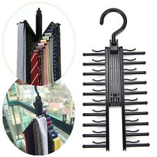 Adjustable 360° Rotating Hook 20 Tie Belt Scarf Compact Hanger Rack Holder tb
