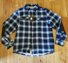 NWT Mens FIELD & STREAM Blue Plaid Sherpa-Lined Flannel Shirt Jacket Size S $100