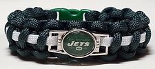 New York Jets Green and White Handmade Paracord Bracelet or Lanyard