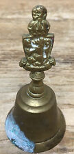 Antique Bell Animal Brass Royal Seal Crown Rampant Lion English Heavy HELP Patin