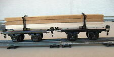 Marklin O-Gauge / Scale 1930's Langholtzwagen (Long Log Carrier) RARE 1961G