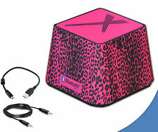 Portable Mini Wireless Bluetooth Speaker in Stylish Hot Pink Leopard for Itouch