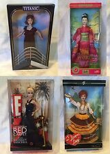 Lot of 4 Barbies ~ I love Lucy, Red Carpet E, Rose Titanic, World Princess Japan