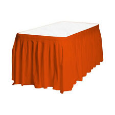 Touch of Color Easy Stick Plastic Table Skirt, 14-Feet, - orange