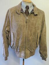 """Polo Ralph Lauren con cremallera chaqueta de Gamuza Harrington XL 46-48"""" euro 56-58 - Brown"""