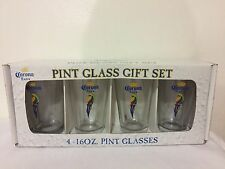 CORONA EXTRA PINT GLASS GIFT SET OF 4 - 16 oz PINT GLASSES - NEW