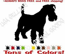 Schnauzer Mini Giant Dog Vinyl Decal Sticker for Car Window Laptop Crate USA