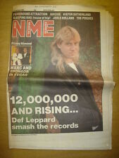 NME 1989 JAN 21 DEF LEPPARD POGUE FAIRGROUND ATTRACTION
