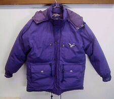 vtg Triple Fat Goose Puffer Parka Coat down fill purple hooded thick sz XL