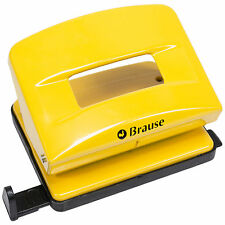 Brause Yellow Metal Paper 2 Hole Punch 18 Sheet Heavy Duty Perforator Puncher