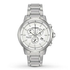 New Citizen Eco-Drive Super Titanium Chronograph Men's Watch AT2340-56A