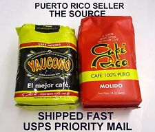 PuertoRico Coffee Cafe Rico Yaucono 2-14oz Caribbean Hot Roasted Beverage Drink2