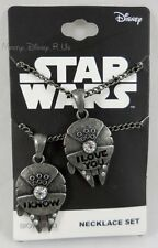 Star Wars Millennium Falcon I Love You I Know 2 Pack Bestie Pendant Necklace Set